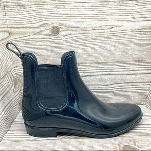 Sam Edelman black rubber rain boots